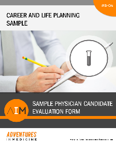 Sample Physician Candidate Evaluation Form - Physician Career Planning