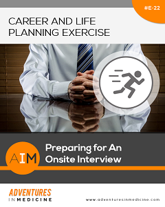 preparing for an onsite interview physician career planning