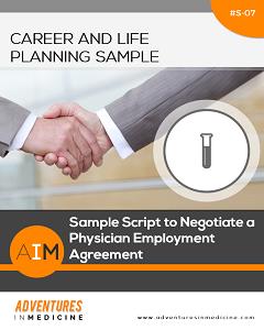 Physician Employment Agreement | Sample Script To Negotiate A Physician Employment Agreement